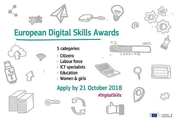 Poster zum European Digital Skills Award 2018