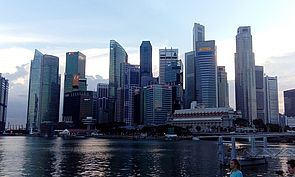 Skyline des Business and Financial Districts von Singapur