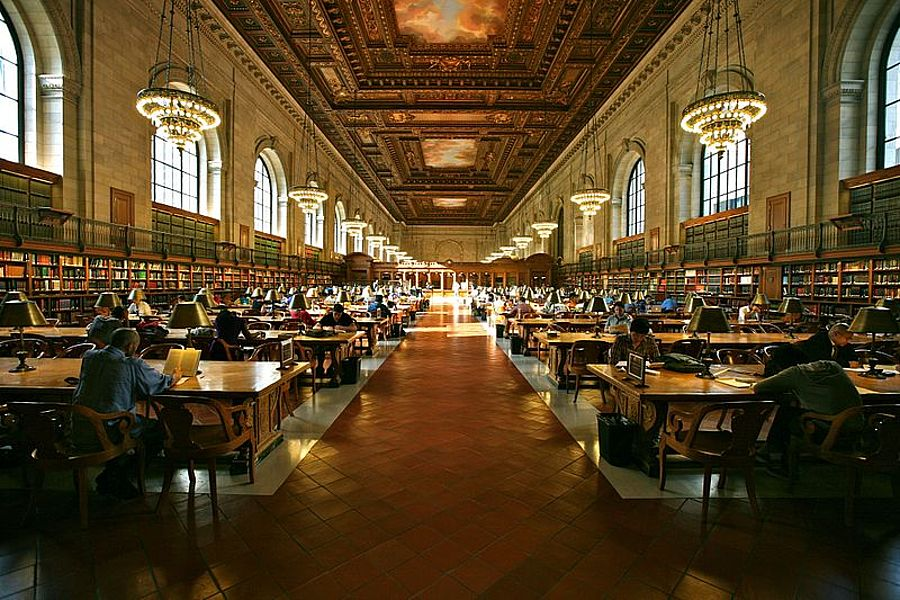 Study Hall der New York Public Library